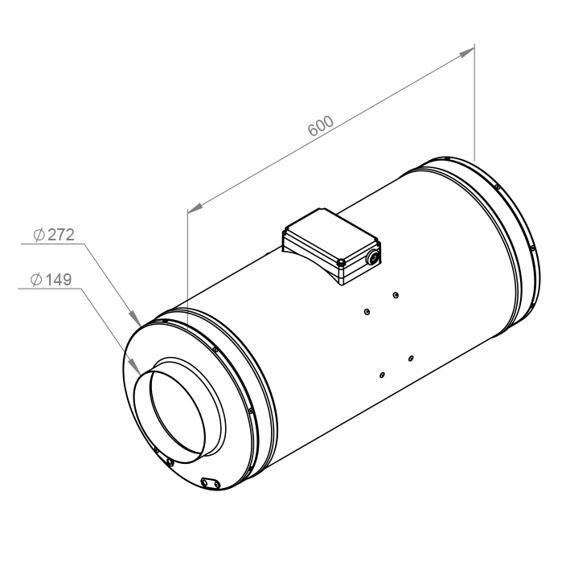 Potrubní ultra tichý ventilátor Emix 150/660 EC, EMIX 150L EC 11