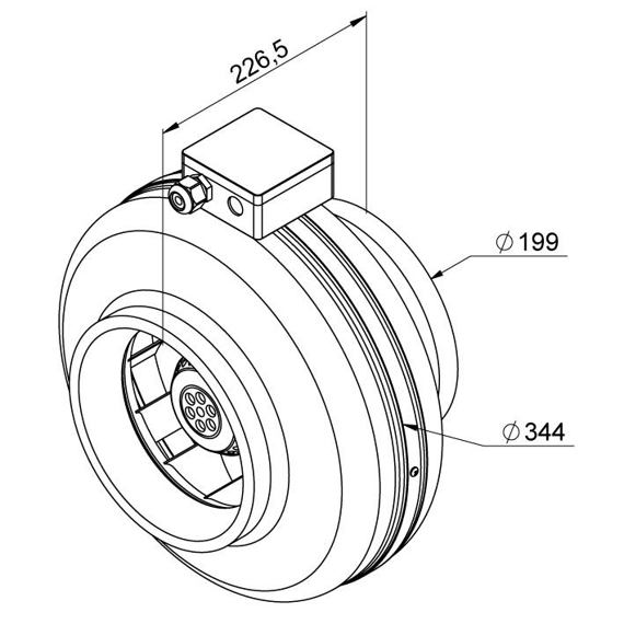 Potrubní ventilátor RS 315/1170, RS 315 10