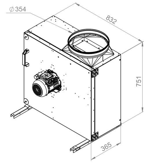 Kuchyňský ventilátor MPS 400/4250, MPS 400 E4 21