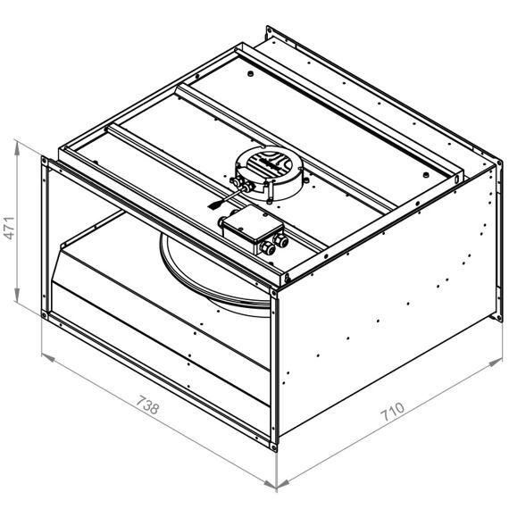 Radiální ventilátor KVR 7040/5170 EC, KVR 7040 EC 30