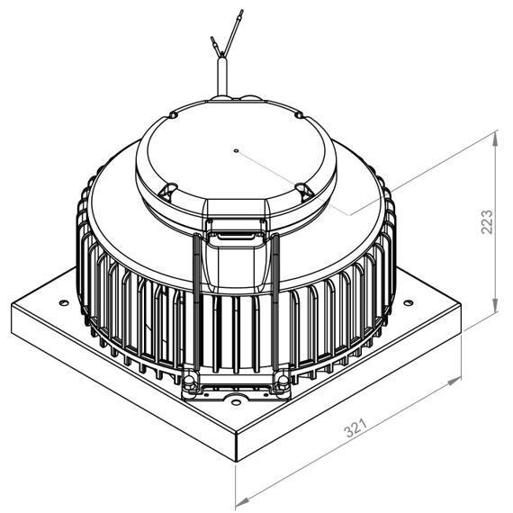 Střešní ventilátor DHA P Plast 190/300, DHA 190 E4P 01