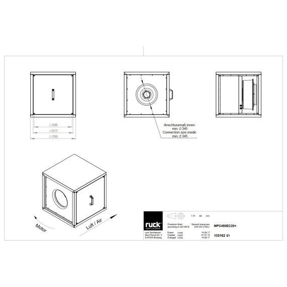 Odtahový ventilační box MPC EC 450/6270, MPC 450 EC 20