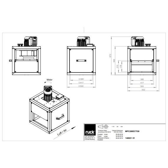 Odtahový ventilační box MPC EC TI 280/2880, MPC 280 EC TI 30