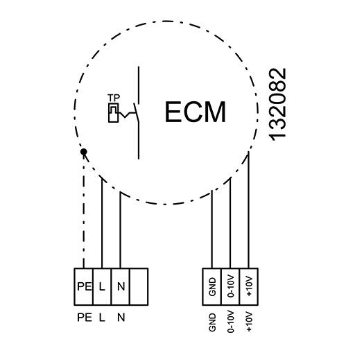 Radiální ventilátor KVR 6035/3065 EC, KVR 6035 EC 30