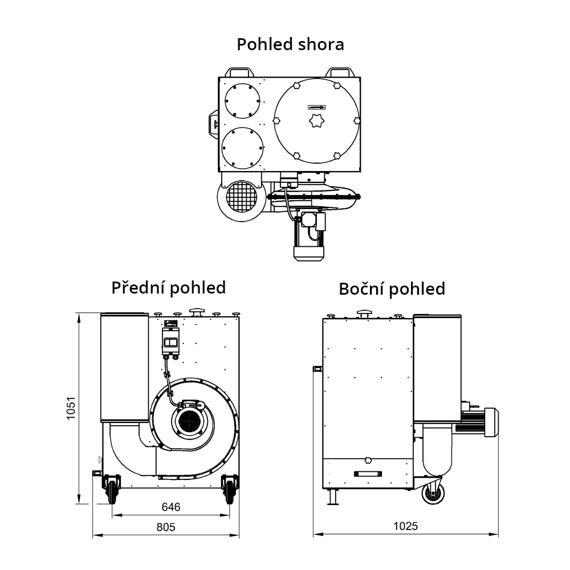 Filtrační jednotka ROBUST-1000