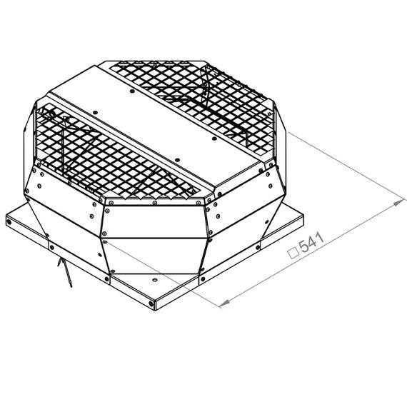 Střešní ventilátor DVA 315/1550, DVA 315 E4P 33