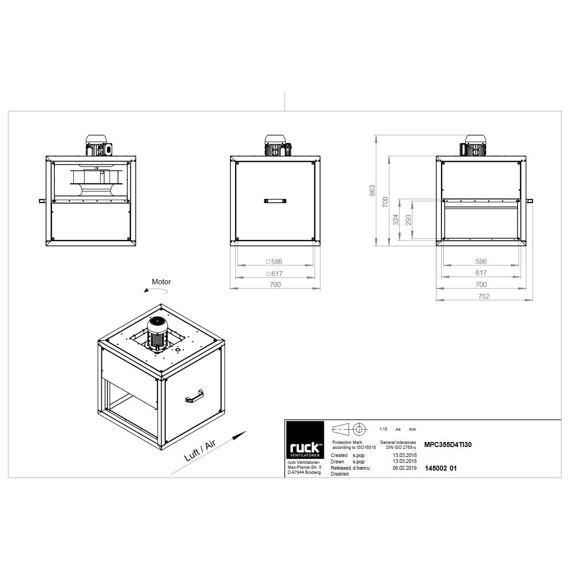 Odtahový ventilační box MPC F4 TI 355/4330, MPC 355 D4 F4 TI 30