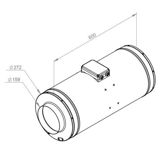 Potrubní ultra tichý ventilátor Emix 160/700 EC, EMIX 160L EC 11