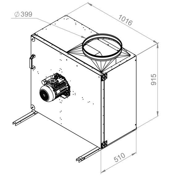 Kuchyňský ventilátor MPS 500/7800, MPS 500 E4 21