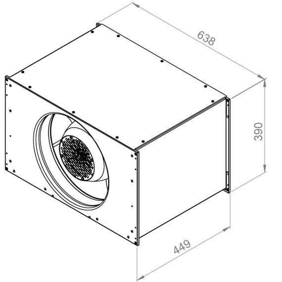 Kanálový ventilátor ELKI 6035/4970, ELKI 6035 E2 12