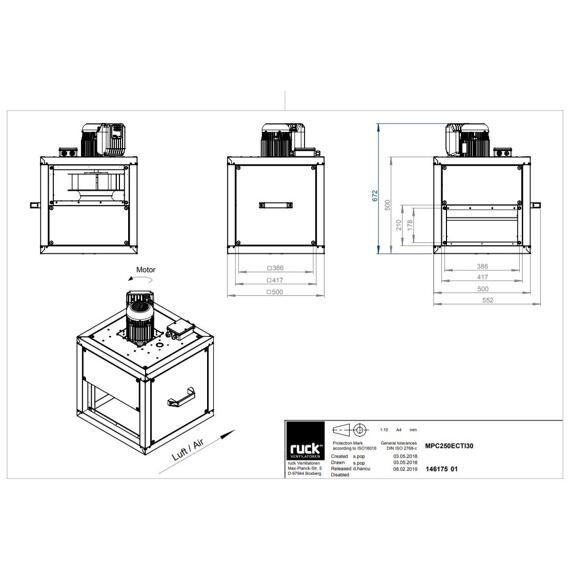 Odtahový ventilační box MPC EC TI 250/2940, MPC 250 EC TI 30