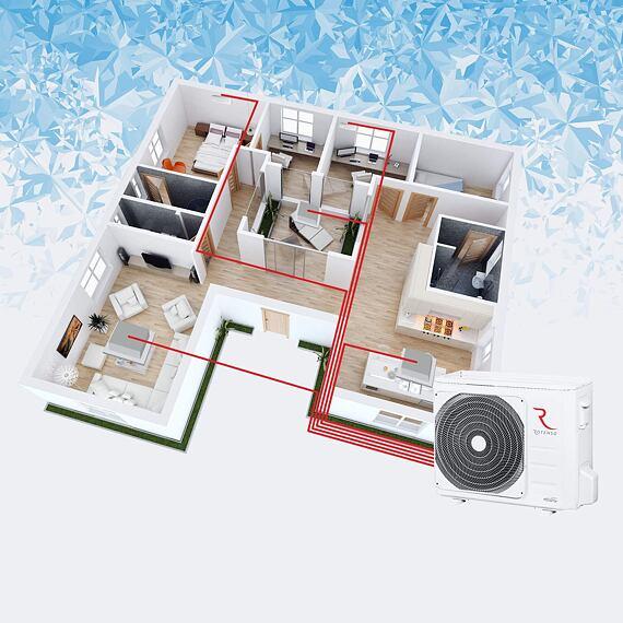 Venkovní jednotka Hiro Nordic Multi 10,9 kW (1f) pro 4 vnitřní jednotky