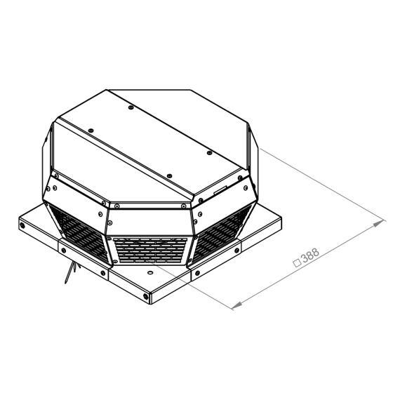 Střešní ventilátor DHA 220/450, DHA 220 E4 30