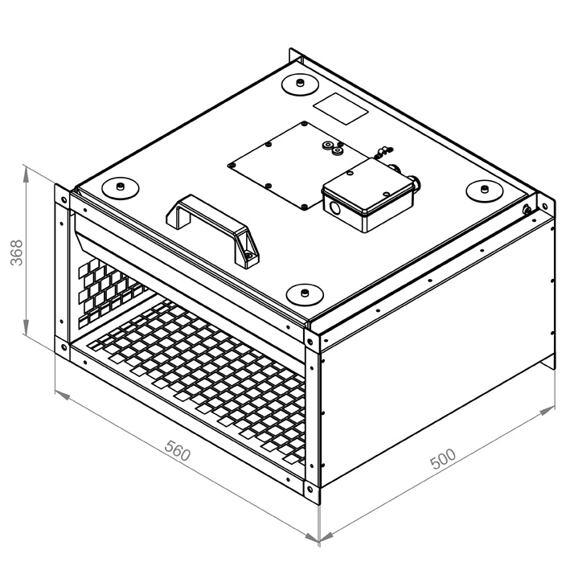 Radiální ventilátor KVRI 5025/1790 EC, KVRI 5025 EC 30