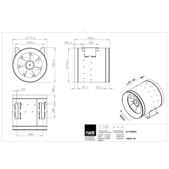 Potrubní ventilátor Etaline 710/23140, EL 710 D4 02